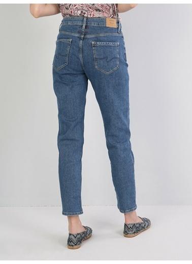 Colin's 891 Maya Orta Bel Daralan Paça Slim Fit Mavi Kadın Jean Pantolon Mavi